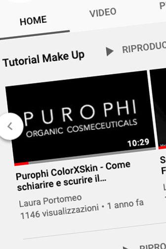 Video tutorial prodotti make up