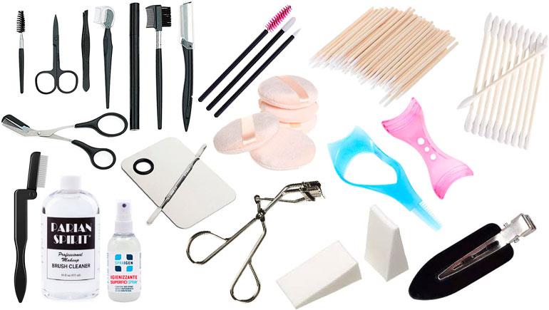accessori kit make up artist